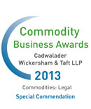Cadwalader Recognized for Excellence at 2013 Commodity Business Awards