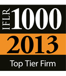 International Financial Law Review's 2013 IFLR 1000