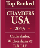 Cadwalader Recognized in Chambers USA 2015